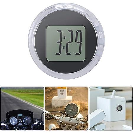 Universal Mini Motorrad Uhr Auto Uhr Wasserdicht Stick On Motorrad Digital Uhr Durchmesser 2 8 Cm Gewerbe Industrie Wissenschaft