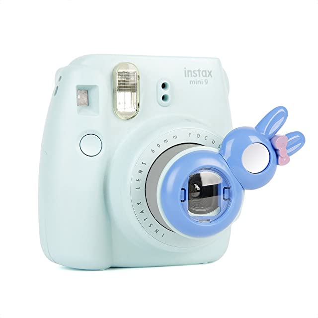 Annle Instax Primer Plano Espejo Selfie para Fujifilm Instax Mini KT/Mini 8/8 + / 9 / 7s / Instant Film Camera (Rabbit Cobalt Blue)