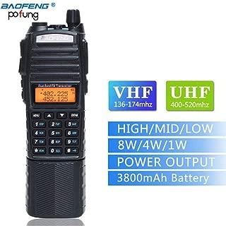 BaoFeng UV-82 Plus High Power 3800mAh DC Connector Battery UV82 8W Dual PTT Band Transceiver Amateur Ham Two- Way Radio