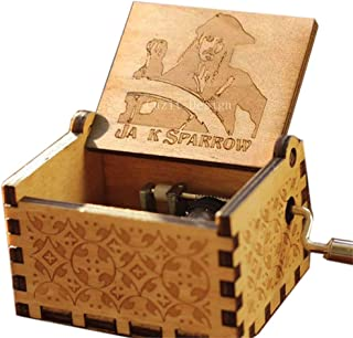Cuzit JA K Sparrow - Caja de música con manivela de mano para ...