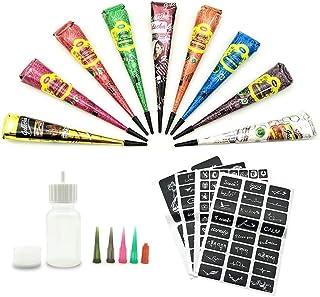 mxdmai 1 juego de la alhe/ña temporal del tatuaje kit de 2 botellas vac/ías con aplicador 16 Consejos Agujas de tatuaje de la alhe/ña