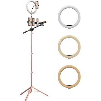 """LepoLux 12"""" Ring Light with Tripod Stand and Phone Holder for Makeup,Live Streaming,YouTube Video, Photograpic,Selfie Photo"""