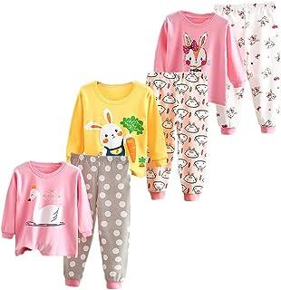 XM-Amigo Juego de ropa interior térmica para bebé o niña, 3 piezas, ropa interior térmica para invierno