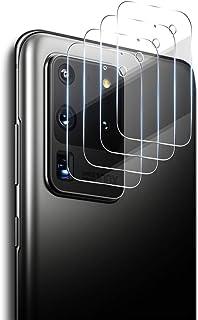 ELYCO [4 Pièces] Caméra Arrière Protecteur pour Samsung Galaxy S20 Ultra 5G, [Anti-Rayures] HD Verre Trempé Caméra Arrière...