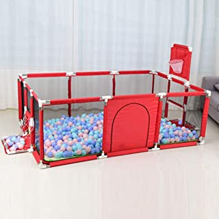 Child Baby Playpen Portable Travel Cot Bed Crawl Play Area  for Babies Toddler Newborn Infant  Indoor and Outdoor Play Basketball