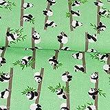 Baumwollstoff Panda mintgrün - Preis gilt für 0,5 Meter