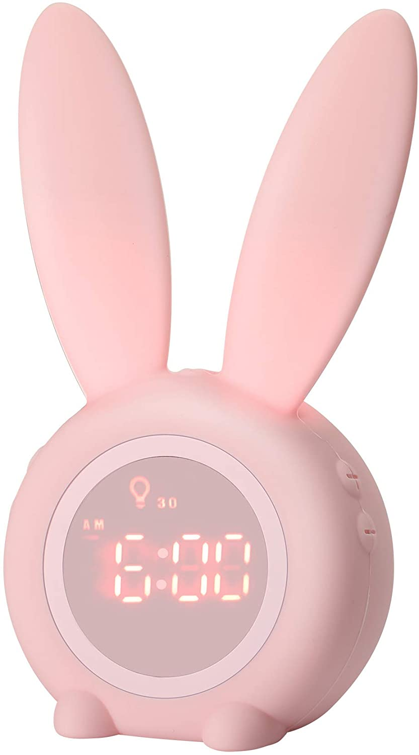 Kids Alarm Clock with Night Light for Toddlers, 5 Ringtones, Tou