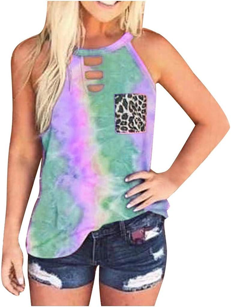 AODONG Womens Summer Tops, Women Summer Tank Tops Sleeveless Scoop Neck Loose Fit Tank Tops Summer Sleeveless Shirts