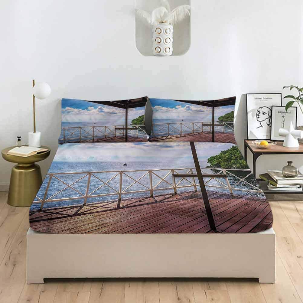 LCGGDB Modern Full Size Bed Fitted Ma Dallas We OFFer at cheap prices Mall Tribal Geometric Set Sheet
