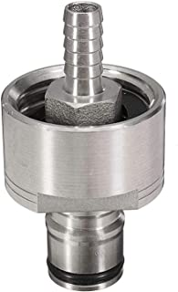 TOOGOO Carbonation Cap 304 Stainless Steel Carbonator with Liquid Ball Lock Disconnect 1/4 Barb Hot Homebrew Soda Water Carbonate Beer Soft Drinks