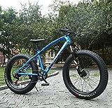 WellingA Erwachsenen MTB, 26' 7/24/27 Speed Faltbare Vollfederung Mountain Bike, Zwei Scheibenbremsen Fette Reifen Fahrrad, Großer Reifen MTB Fahrrad für Herren und Damen,014,24stage Shift