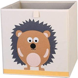 ZXXFR Panier À Linge Sale,Cute Cartoon Lion Broderie Broderie Animaux Tissu Oxford Cubes Boîte De Rangement Pliable Organi...