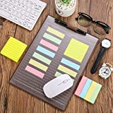 Multi-Function Office Mouse Pad Mat Portable Clear Mouse Pad Anti-Slip Desk Protector Mouse Pad Mat Waterproof PU Mouse Pad with Card Schedule Pockets Sticky Notes