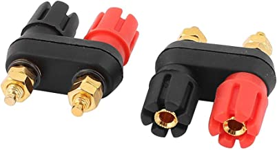 uxcell 2pcs Dual Female Banana Connector Jack Terminal Binding Post for Speaker Amplifier
