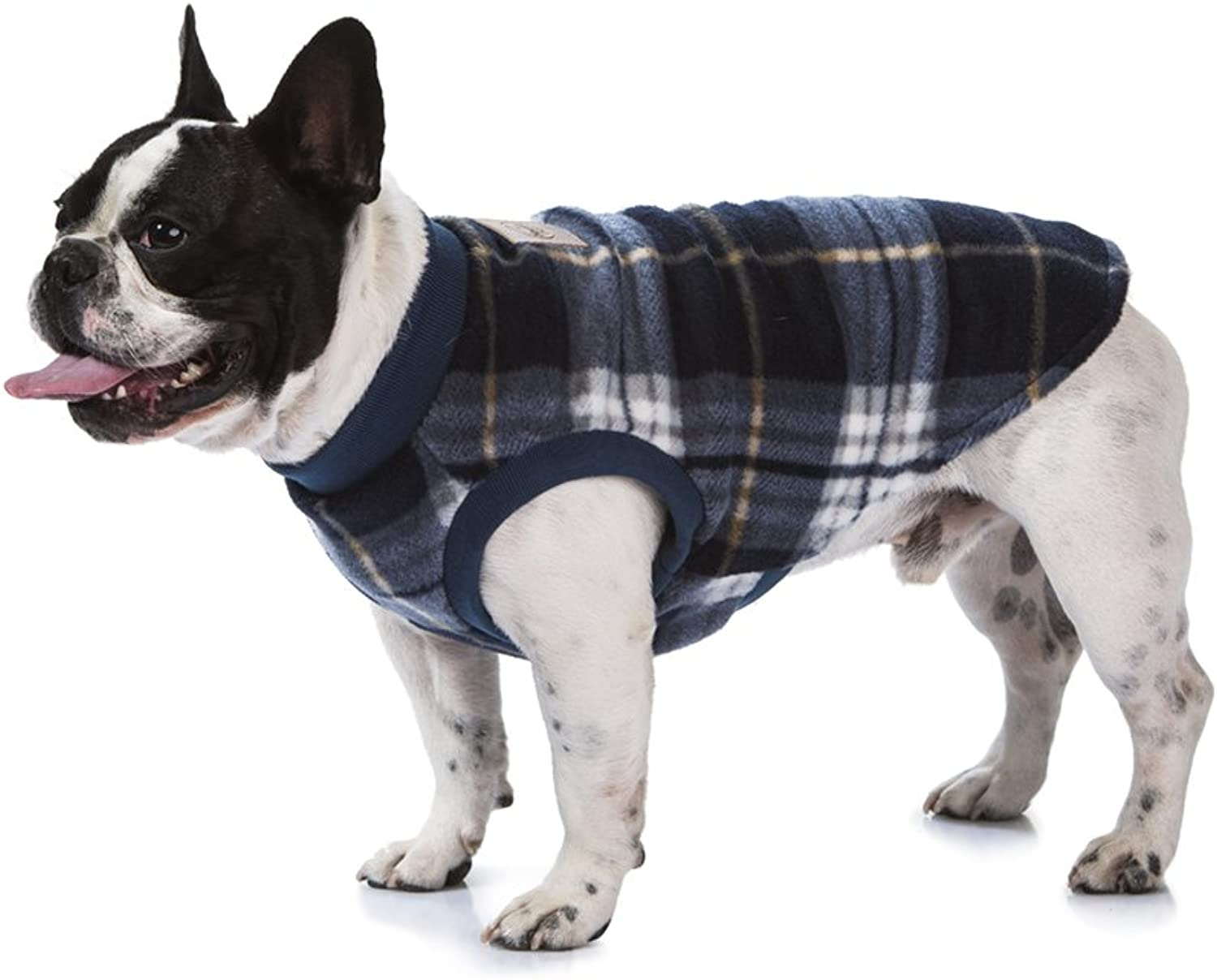 Abiti da cane, Blu di Tartan, Pet Apparel, Comfortable fit, No Fasteners, Super Soft Micro Fleece, Indoor e Outdoor wear