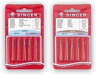 Singer Kit de 2 Paquetes de Agujas para Coser Cuero y Tejanos (826R + 832R) 2026 y 2032 130/705 H-J y H-LL (Universales, P...