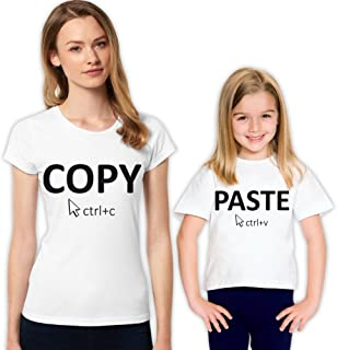 Mother and Daughter Matching Shirts Copy Past Family T-Shirt Set Completing Love for Gift Girl Mommy mothersday Funny