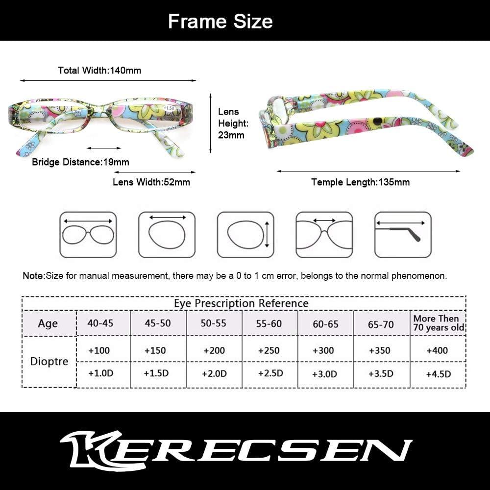 Buy Kerecsen Women's Reading Glasses 20 Pairs Ladies Fashion Spring ...