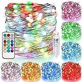 Tencoz Guirnalda Luces 10M 100 LED, Cadena de Luces LED USB Exteriores Interiores IP44 impermeable, Luces LED de Colores...