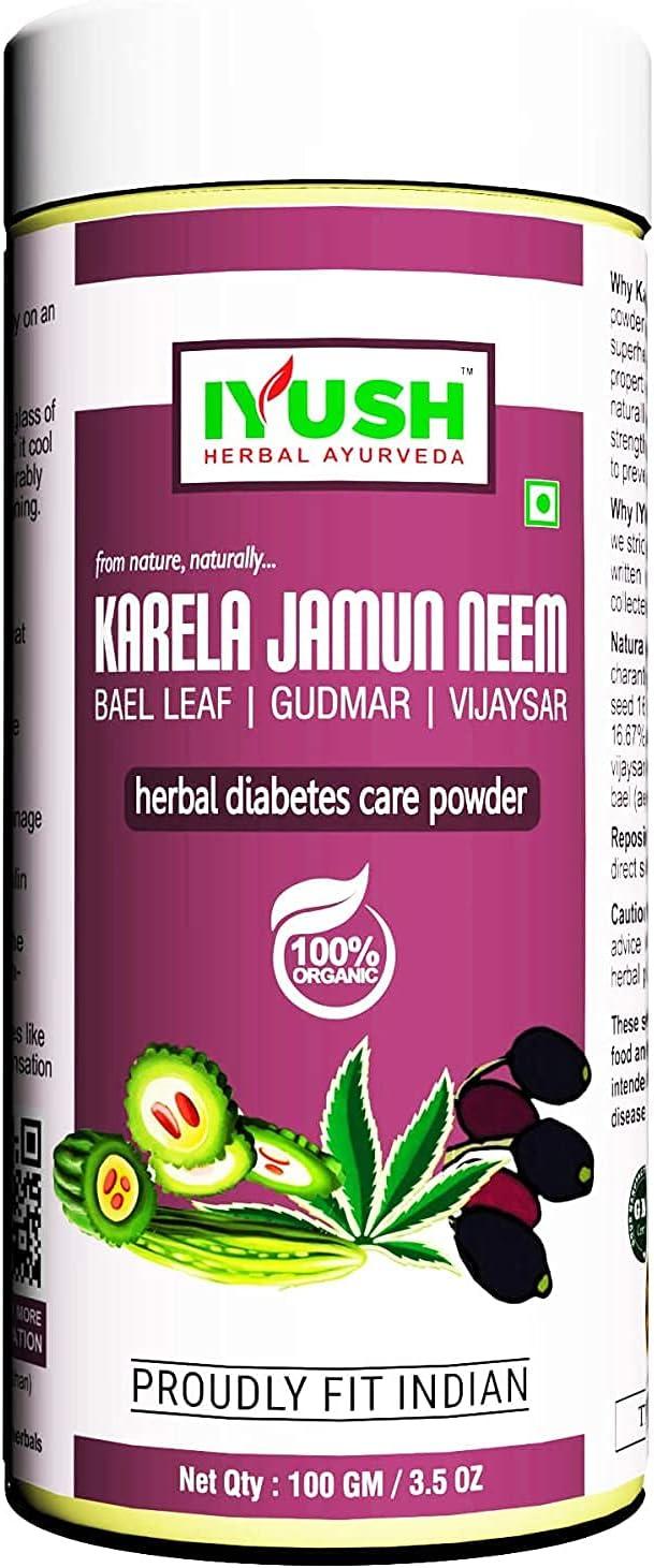 Baltimore Mall Valocity IYUSH Herbal Ayurveda karela 100gm Powder neem Direct stock discount jamun -