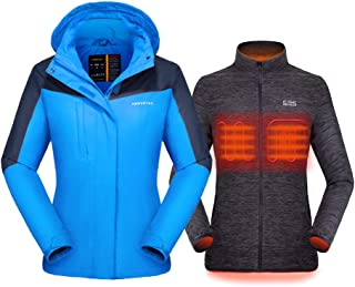 [2019 New Women's 3-in-1 Heated Jacket with Battery Pack,...