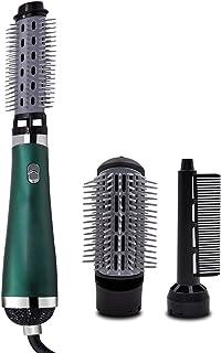 Festnight Secador de pelo multifuncional antiestático Rizado, liso, esponjoso 3 en 1 Plancha de pelo de aire caliente Peine Herramientas para peinar el cabello con 3 cabezales de peine reemplazables