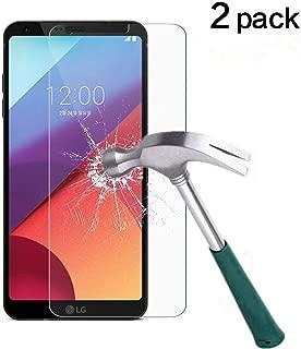 LG G6 Screen Protector,TANTEK [Anti-Bubble][HD Ultra Clear][Scratch Resist][Anti-Glare][Anti Fingerprint] Premium Tempered Glass Screen Protector for LG G6,-[2-Pack]