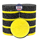 (9 Pack) Multi-Purpose Scrubby Dot Sponge with Ceramic/Glass Scrubber – Double Sided Scrubbing Sponge – Flexible in Warm Water, Firm in Cold – Deep Cleaning, Scratch Free -Made in The USA.