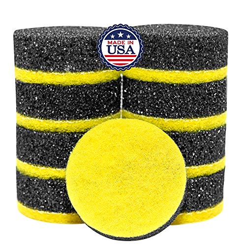Multi-Purpose Scrubby Dot Sponge with Ceramic/Glass Scrubber – Double Sided Scrubbing Sponge – Flextexture Flexible in Warm Water, Firm in Cold – Deep Cleaning, Scratch Free (9 Pack)
