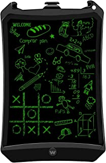 """Woxter Smart Pad 90 Black - Pizarra electrónica, Tableta de escritura de 9"""", Tonalidad Verde, Sensor de presión (10-200g), pila CR2016, Imanes para Nevera, color negro"""