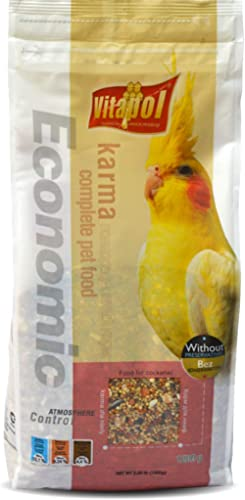 PetSutra Vitapol Economic Bird Food for Cockatiel 1200 GMS (1 Pack)