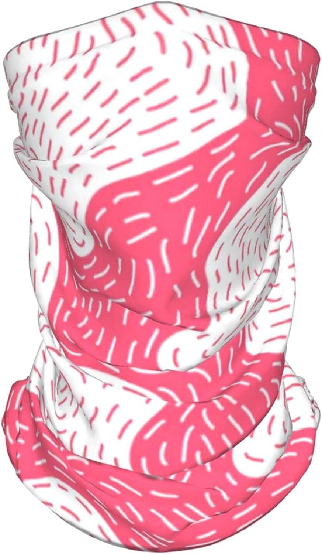 Retro Memphis Style Neck Gaiter Multipurpose Headwear Ice Silk Mask Scarf Summer Cool Breathable Outdoor Sport 4 Pcs