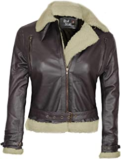 Real Lambskin Womens Leather Jacket - Shearling Leather Jackets for Women