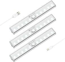 OxyLED bewegingssensor garderobeverlichting, USB oplaadbare kastverlichting, overal aan te plaatsen Draadloos 10 LED kastv...