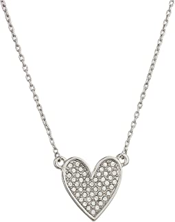 "18"" Pave Heart Pendant - ""Let Your Love Shine"""