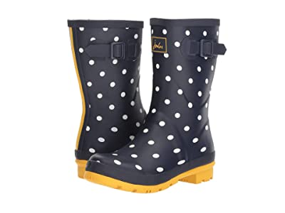 Joules Mid Molly Welly (French Navy Spot) Women