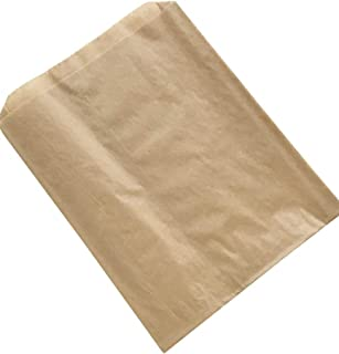 Plain Natural Kraft Sandwich Bag - Ideal for Pretzels and Sandwiches - Made in USA - 6.5 x 1 x 8 (Pack of 100)