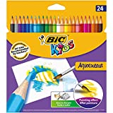 Bic Kids Aquacouleur Matite Colorate Acquerellabili Confezione da 24 Matite Colori Assortiti
