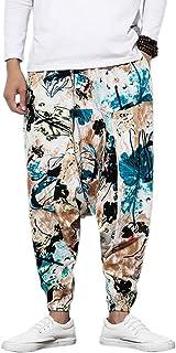 Pantaloni da uomo Harem con pantaloni Harem stampati e unisex con tasca Pantaloni da uomo Harem Pantaloni larghi Bloomers ...