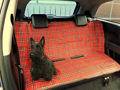 Cubreasientos protector para coche, de XtremeAuto®. Impermeable. Para el asiento o el maletero. Diseño de tartán