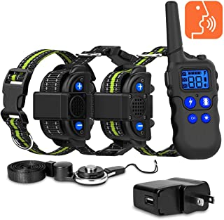 Ace Teah Dog Training Collar for 2 Dogs, Voice Training Collar with Walki-Talkie Function, 4 Training Modes, Up to 2600 Ft Remote Range
