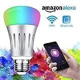 WiFi Smart LED Lampen,Solocil Dimmbar Mehrfarbig RGB LED Birne E27 Glühbirnen ändern Stimmung...