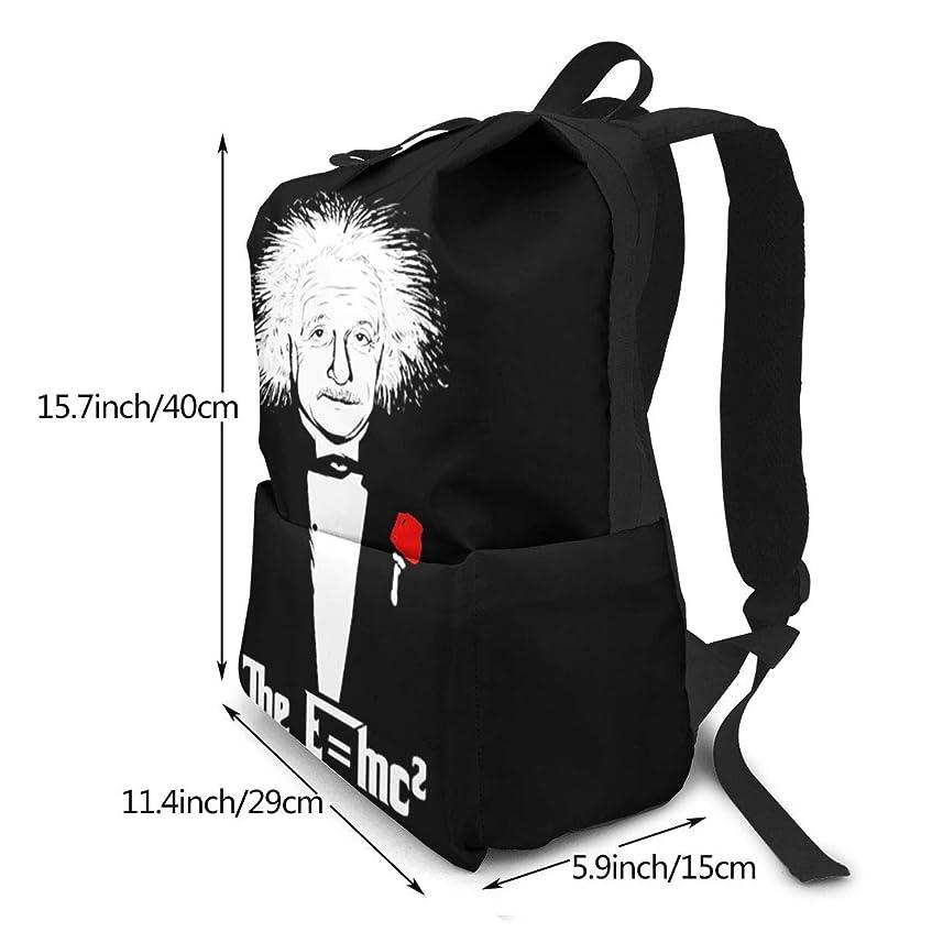 コミットメント縫う落とし穴双肩バッグ リュックサック 物理学 E=Mc2 バックパック Schoolbag 大容量 通学 中学生かばん リュック スクエアリュック 男女子高校生 バック 通学 通勤 40X29X15(Cm)