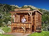 weka Gartenhaus 820 A Gr. 2, natur, VD/T 100 cm, ET, EF, mit Theke und Sitzgelegenheit
