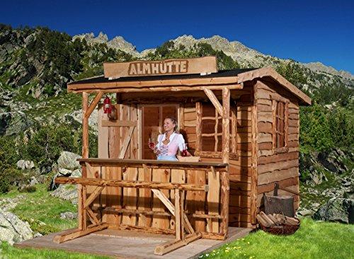 weka Gartenhaus mit Vordach 820 A Gr. 2, natur, VD/T 100 cm, ET, EF, mit Theke und Sitzgelegenheit