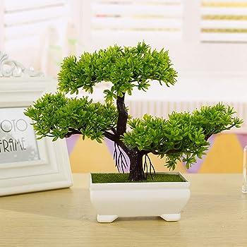 ZAK168 Árbol de bonsái artificial, decoración de plantas falsas, simulación de invitados, decoración de bonsái en maceta de pino para el hogar, oficina, jardín zen, Verde, Tamaño libre: Amazon.es: Hogar