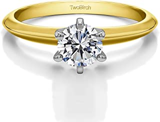 0.64Ct Yellow Silver Unique Mens Ring Charles Colvard Moissanite Size 3 to 15 in 1//4 Size Intervals
