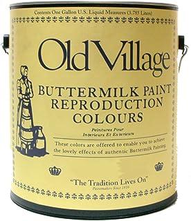 オールドビレッジ バターミルクペイント コーナー カップボード イエロー ホワイト 3785ml BM-1325G