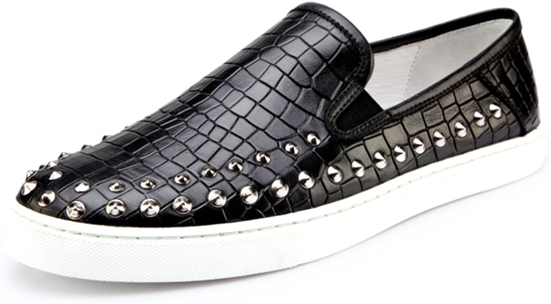 WLJSLLZYQ Lok Fu shoes Fashion Men Punk Style Rivet shoes Casual shoes