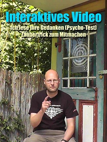 Interaktives Video - Ich lese Ihre Gedanken (Psycho-Test) Zaubertrick zum Mitmachen